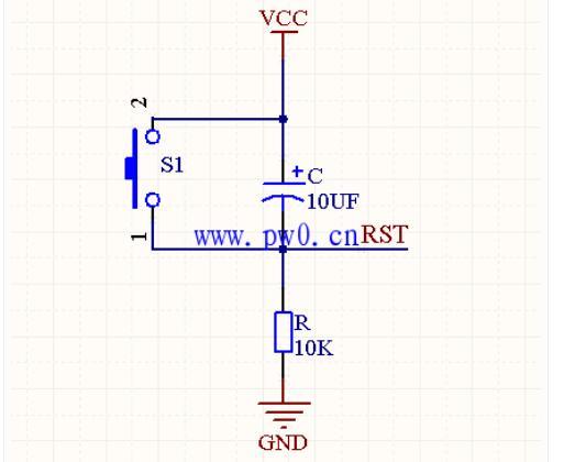单片机按键复位电路的原理