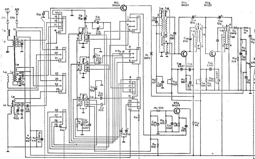熊猫B802-1收音机的电路原理图免费下载