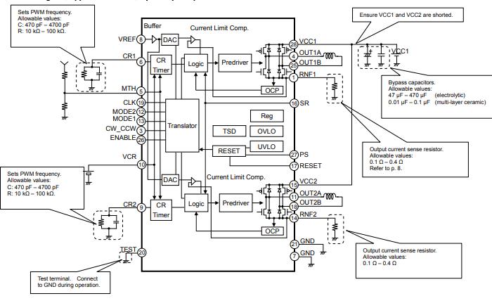 BD63860EFV高级步进电机驱动器的数据手册
