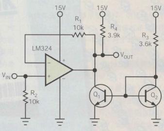 基于电流源使LM324运算放大器的输出电流降到地...