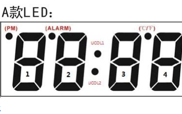 ZH1630N双LED显示木头钟的说明书资料免费下载