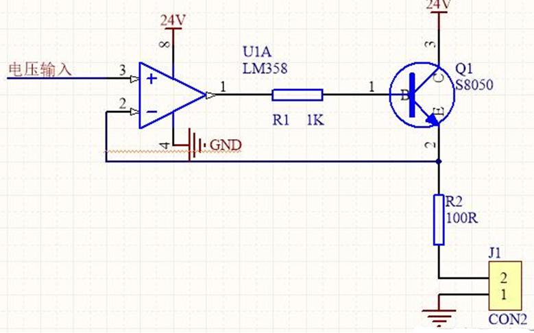 讲解4~20mA电流输出芯片XTR111的完整电路图