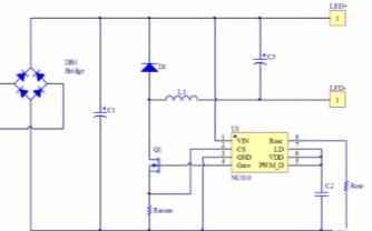 全电压DCAC输入高效PWM调光LED恒流控制芯片NU310