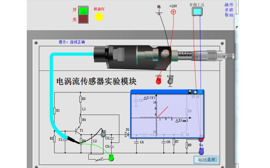 电涡流式传感器测量位移的工作原理和实验资料说明