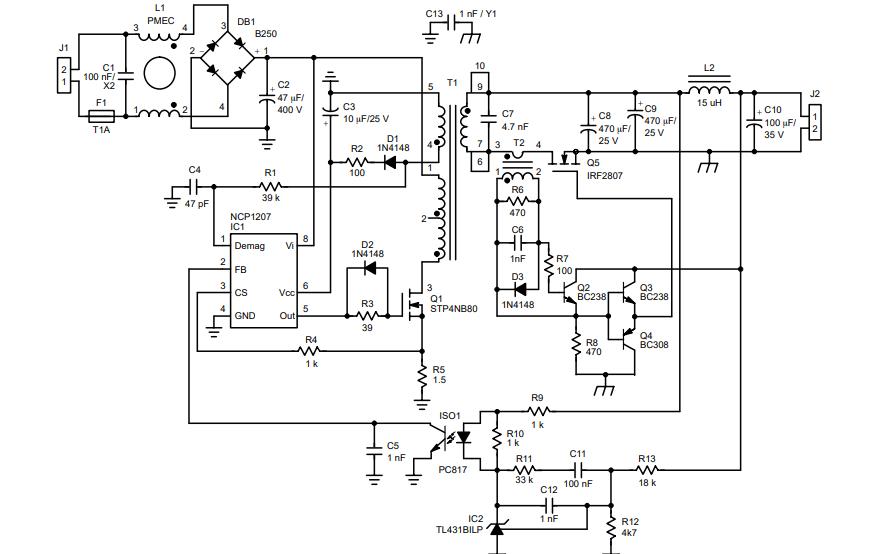 NCP1207反激式离线转换器控制器的数据手册免费下载