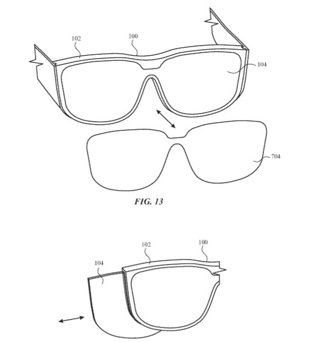 蘋果AR眼鏡新專利為近視用戶提出 磁吸夾卡式醫學鏡片 解決方案