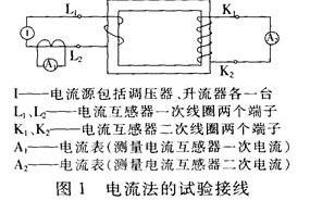 测试讨论电流法和电压法检查电流互感器变比试验的原...