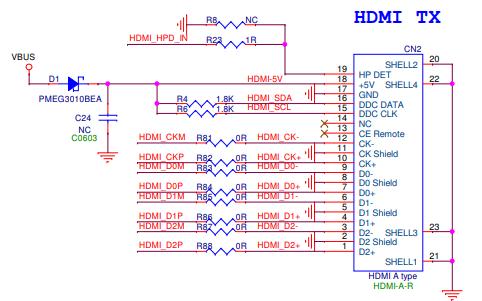 TYPEC转HDMI投屏方案AG9310设计电路图