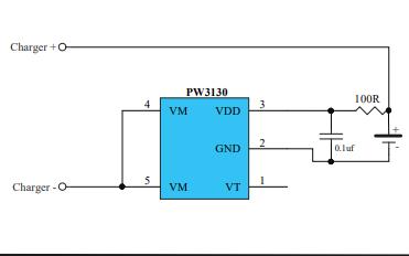 PW3130单电池锂离子聚合物电池保护集成电路数据手册免费下载
