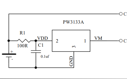 PW3133A系列单电池锂离子聚合物电池保护集成电路数据手册免费下载