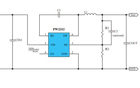 PW2312同步降压调节器的数据手册免费下载