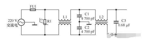 EMI滤波器常见电路解析