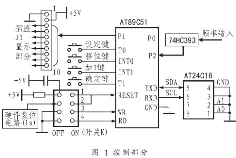 基于渦街流量傳感器AT89C51/LV51型單片機實現流量計的二次儀表設計