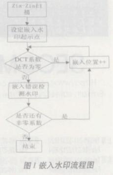 采用在编码端嵌入水印信息办法的错误检测系统的设计