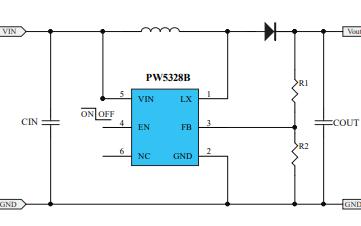 PW5328B升压电流模式PWM转换器的数据手册免费下载