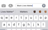 iOS键盘现在会提示Black Fist表情符号...