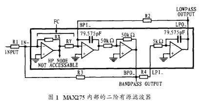 通用型有源滤波器MAX275的结构原理和应用实例...