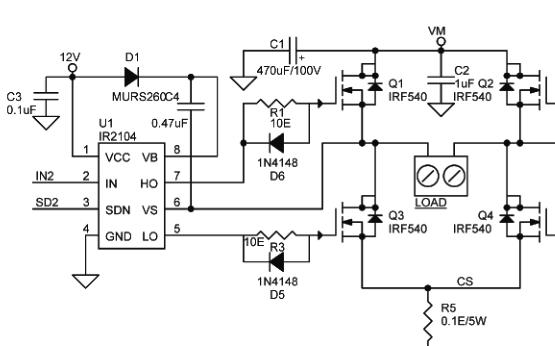 基于IR2104的直流電機10aMPS H橋詳細說明