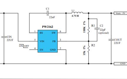 PW2162同步降压转换器的数据手册免费下载