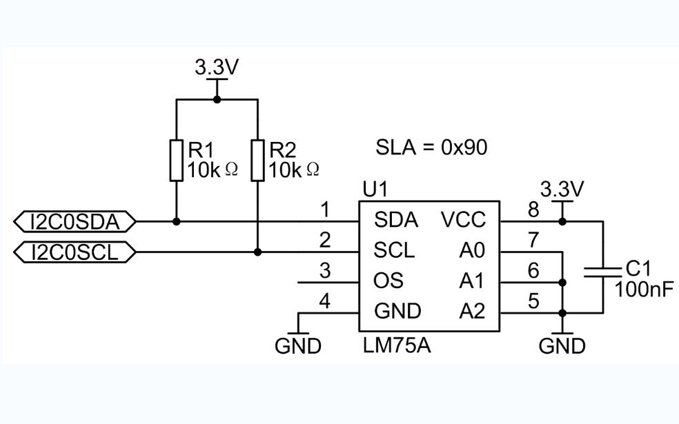 LM75A的數據手冊和數字溫度傳感器的例程等資料合集