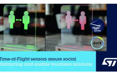 意法半导体飞行时间接近及检测传感器 助力社交距离感知应用