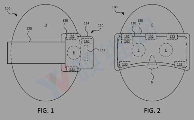 苹果AR头显专利曝光 可用面部传感器测量心率、温...