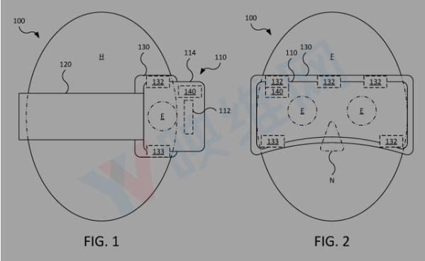 苹果新专利:AR/VR头戴式显示器可提供传感器测量心率、温度等