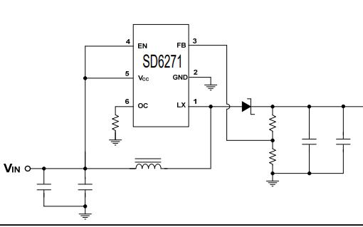 SD6271升压电流模式PWM转换器的数据手册免费下载
