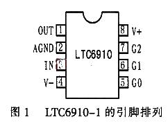 数字控制可编程增益放大器LTC6910的性能特点...