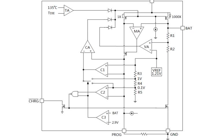PW4054单节锂离子电池恒流恒压线性充电器芯片的数据手册