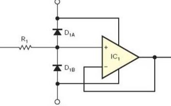 对高阻抗缓冲放大器实现ESD保护的应用电路设计