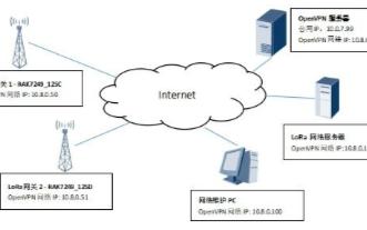为远程管理LoRaWAN网关配置OpenVPN ...