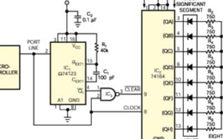基于微控制器8线滨/翱端口实现8段条形图尝贰顿显示设计