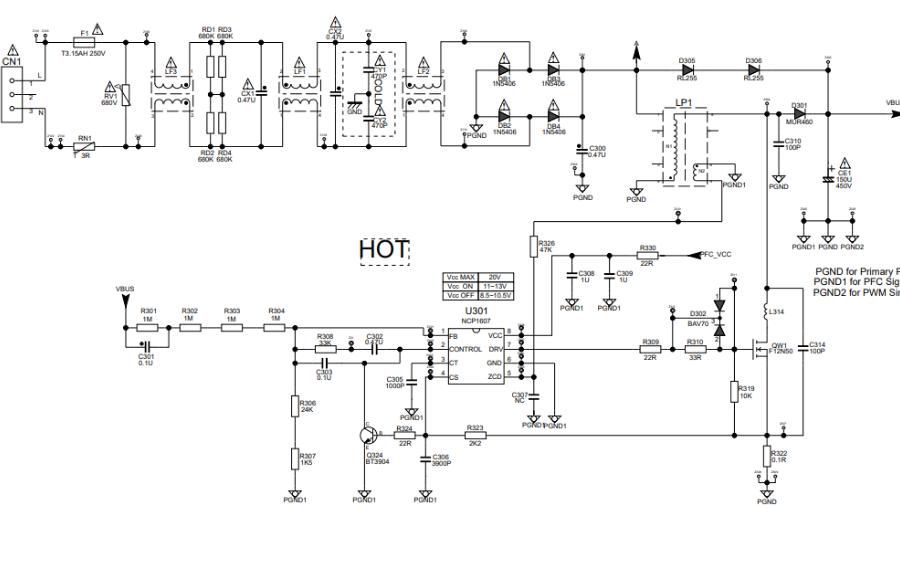 TCL液晶电源板40-A112C1-PWE1XG电路原理图免费下载