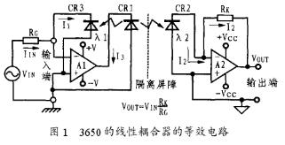 新型光耦合集成隔离放大器的工作原理和应用分析
