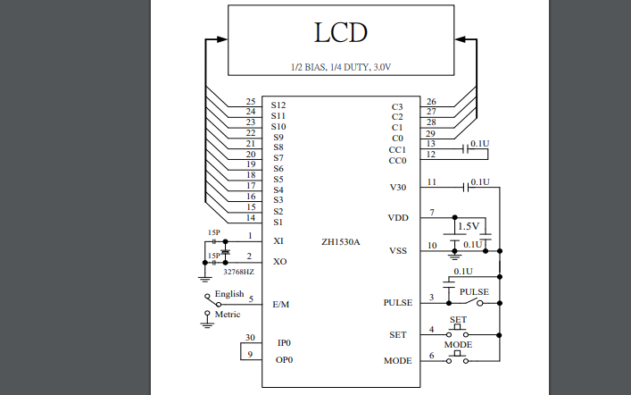 ZH1530A多功能計步器芯片的數據手冊免費下載