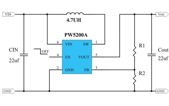 PW5200和PW5200C高效升压DCDC调节器的数据手册