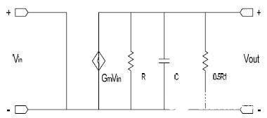 前置增益运放的小信号等效模型