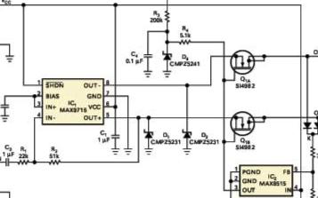 能承受放大器输出电压出现短路造成过压的电路应用设计