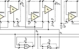 基于双运算放大器AD8592的反相取样保持放大器...