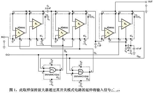 基于双运算放大器AD8592的反相取样保持放大器的电路设计