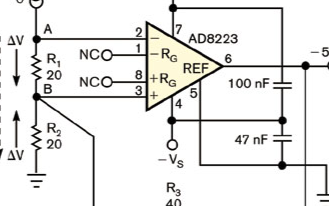 基于AD8223仪表放大器实现无源分流器的设计