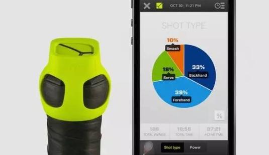 Zepp网球套件一款为网球拍是设计的可穿戴设备