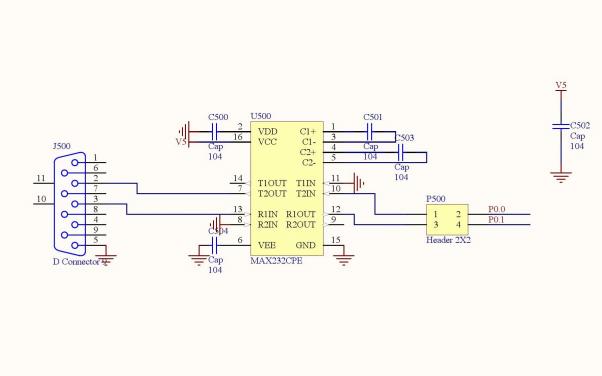 LPC2103微控制器的电路原理图和PCB资料免费下载