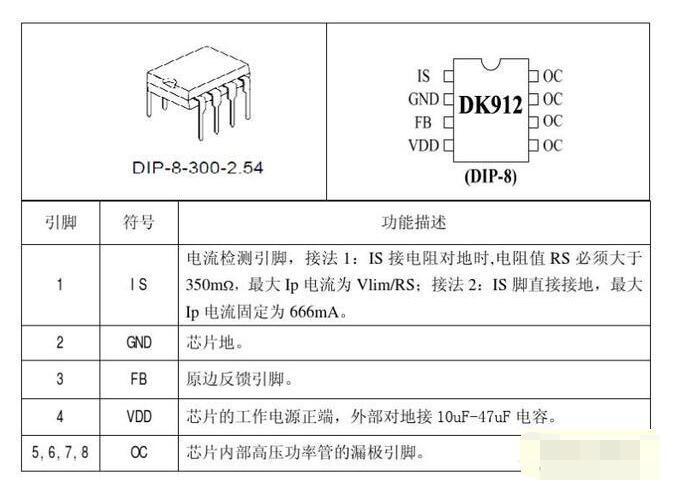 DK912芯片功能及基本参数_DK912芯片应用电路