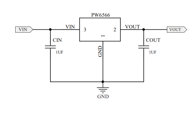 PW6566低压差低功耗LDO稳压芯片的数据手册免费下载