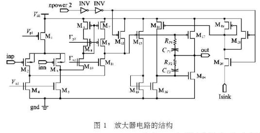 滿足增益帶寬及電壓輸出擺幅要求的三級功率放大器的...
