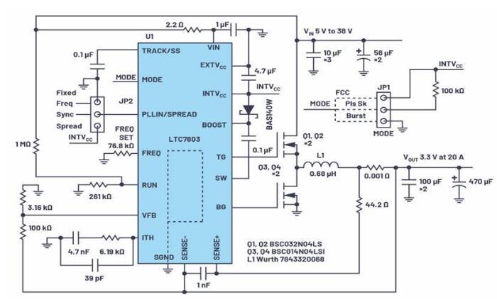 基于LTC7803的高性能电源设计