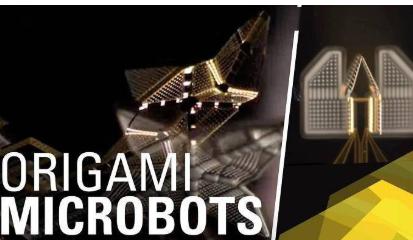 通过加热的方式而工作折叠式微型机器人