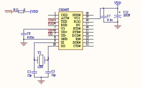 51单片机最小系统原理图开发板PCB和CH340电路原理图免费下载